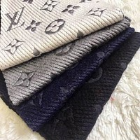 LV Louis Vuitton Stylish Ladies Men Personality Embroider Easy To Match Scarf Scarves Accessories I-YH-FTMPF