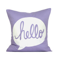 Mother's Day Sale  HELLO Pillow Cover // 16x16 by michelledwight