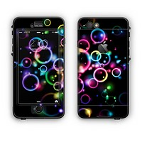 The Glowing Neon Bubbles Apple iPhone 6 LifeProof Nuud Case Skin Set