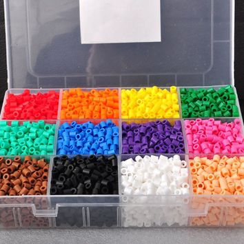 Dark Color Hama Beads 3MM 12Colors Kit Perler Together Beads Set DIY Creative Plastic Jigsaw Board Baby Kids Educational Toys