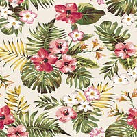 Tropical Flowers Removable Wallpaper