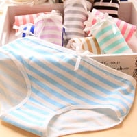 Panties Stripes Navy High Quality Bow Calvin (Multi Color)