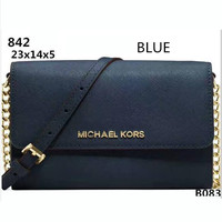 MICHAEL KORS Lash package Woman shopping leather metal chain shoulder bag B-LLBPFSH Blue