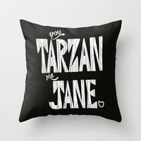 YOU TARZAN ME JANE. Throw Pillow by John Medbury (LAZY J Studios)