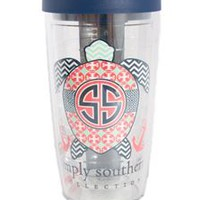 Simply Southern Preppy Tervis 16 oz Tumbler in Turtle