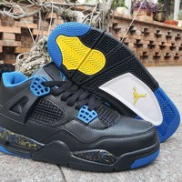 Air Jordan 4 - Black/Blue/Yellow