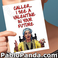Funny Valentine Card | Miss Cleo | Valentine For Her Valentine Day Valentine Card Romantic Valentine Love Card For Him Long Distance Love