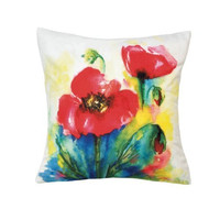 Tulip Watercolor Pillow
