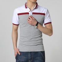 Hot Sale 2017 Summer New Arrival Men Polo Shirt Fashion Good Quality Classic Striped Homme Camisa Short Sleeves Slim Fit Shirt