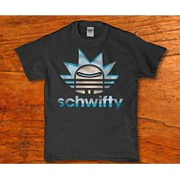 Schwifty awesome funny Rick and Morty t-shirt for Men