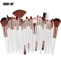 MAANGE 25pcs Makeup Brush Kit Powder Foundation Eyeshadow Makeup Brushes Tools Cosmetics Soft Synthetic Hair brushes for makeup