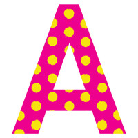 Neon Spot Patterned Letter Wall Decal
