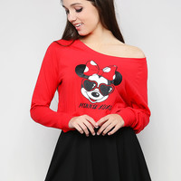 Micky Mouse Crop Top