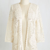 Mid-length 3 Graced by Lace Cardigan by ModCloth