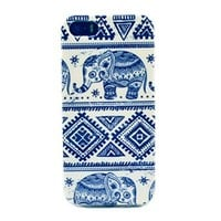 Caselo TPU Rubber Skin Case for iPhone 5 5S - Retail Packaging Elephant