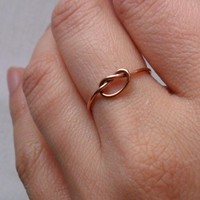 Knotted Up In You Rustic Rose Gold Filled by TheLovelySmith