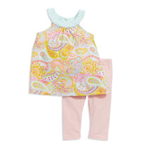 Brands   Newborn Girls 0-9 Months   Baby Girls Two-Piece Paisley Set   Lord and Taylor