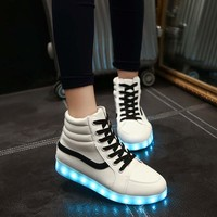 Noctilucent Winter Couple Korean High-top Lightning Multi-color Shoes [8678847629]