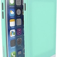 Kaleidio TM [Colour Series] Multi Tone Dual Layer Protective Case for Apple iPhone 6 (4.7) [Package Includes a Overbrawn Prying Tool] - Retail Packaging (Mint Green/Grey)