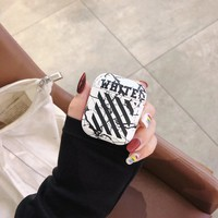 Off White Protective Apple Airpod Case