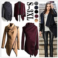 Autumn and Winter Coat Women Long Cashmere Overcoats Desigual Woman Trench Wool Coats Fur Manteau Abrigos Mujer Plus Size