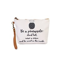 """""""Be a Pineapple"""" Wristlet Makeup Pouch"""