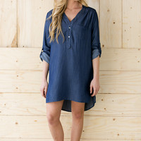 Nikki Denim Tunic Dress