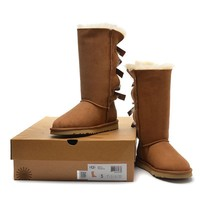 Women's UGG snow boots Long bow high boots DHL _1686248855-380