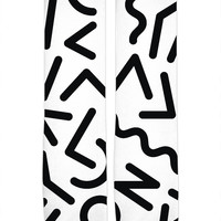 Weird Memphis Pattern Black and White