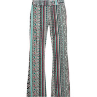 Full Tilt Paisley Diamond Print Girls Flare Pants Black  In Sizes