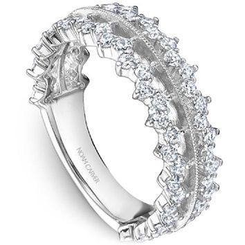 Noam Carver Crown Diamond Scalloped Stackable Band