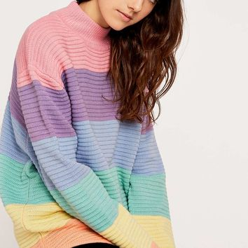 UNIF Pastel Stipe Jumper - Urban Outfitters