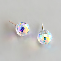 Aurora Crystal Stud Earrings