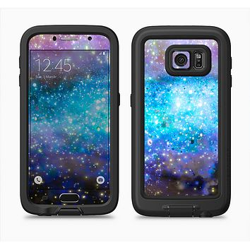 The Glowing Space Texture Full Body Samsung Galaxy S6 LifeProof Fre Case Skin Kit