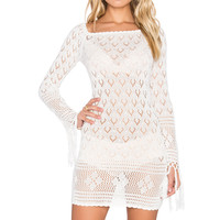 Spell & The Gypsy Collective Leila off the Shoulder Mini Dress in White