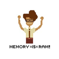 Memory *is* RAM - Moss - The IT Crowd - Cross Stitch Pattern - Instant Download
