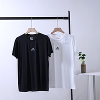"""""""Adidas"""" Men Simple Sport Casual Hollow Logo Round Neck Short Sleeve Quick-drying T-shirt Top Tee"""
