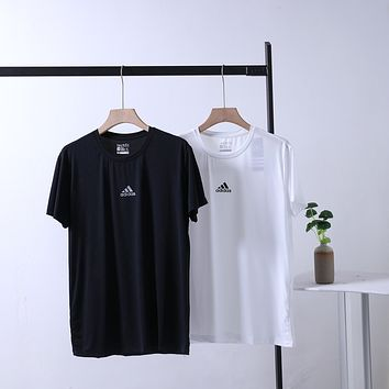 """Adidas"" Men Simple Sport Casual Hollow Logo Round Neck Short Sleeve Quick-drying T-shirt Top Tee"