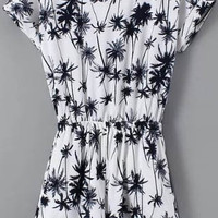 Black and White Palm Tree Romper