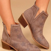 Seeing Stars Taupe Booties