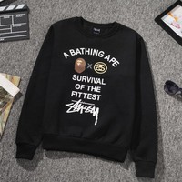 ONETOW Stussy A Bathing Ape Unisex Pullovers SweaterShirts