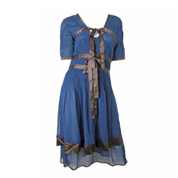 Jeans Paul Gaultier Sheer Chiffon Dress with Bows C. 2004 - 08