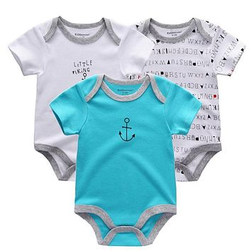 3PCS Baby Girl Clothes Summer 2018 Baby Boys Clothing Set Newborn Overall Boy Sayings Bodysuit ,fantasia infantil Body suits
