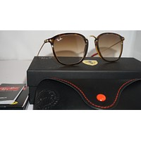 RAY BAN New Sunglasses Ferrari Tortoise Gold Light Brown RB2448NM F60351 51 150