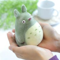 Strapya World : Studio Ghibli My Neighbor Totoro Flocking Doll (O-Totoro)(big totoro)【toy】