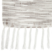 "Arianna Striped Throw with Tassels 50"" X 60"""