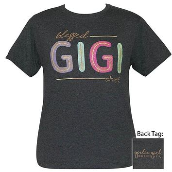 Girlie Girl Originals Preppy Blessed Gigi Glitter T-Shirt