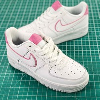 Nike Air Force 1 Low 07 Af1 White Pink Women's Fashion Shoes - Best Online Sale