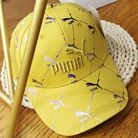 PUMA New fashion embroidery letter couple cap hat Yellow