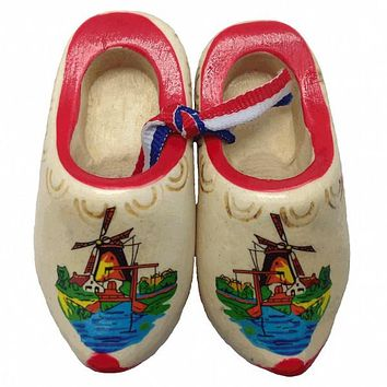 Dutch Shoes Decorated Wooden Clogs